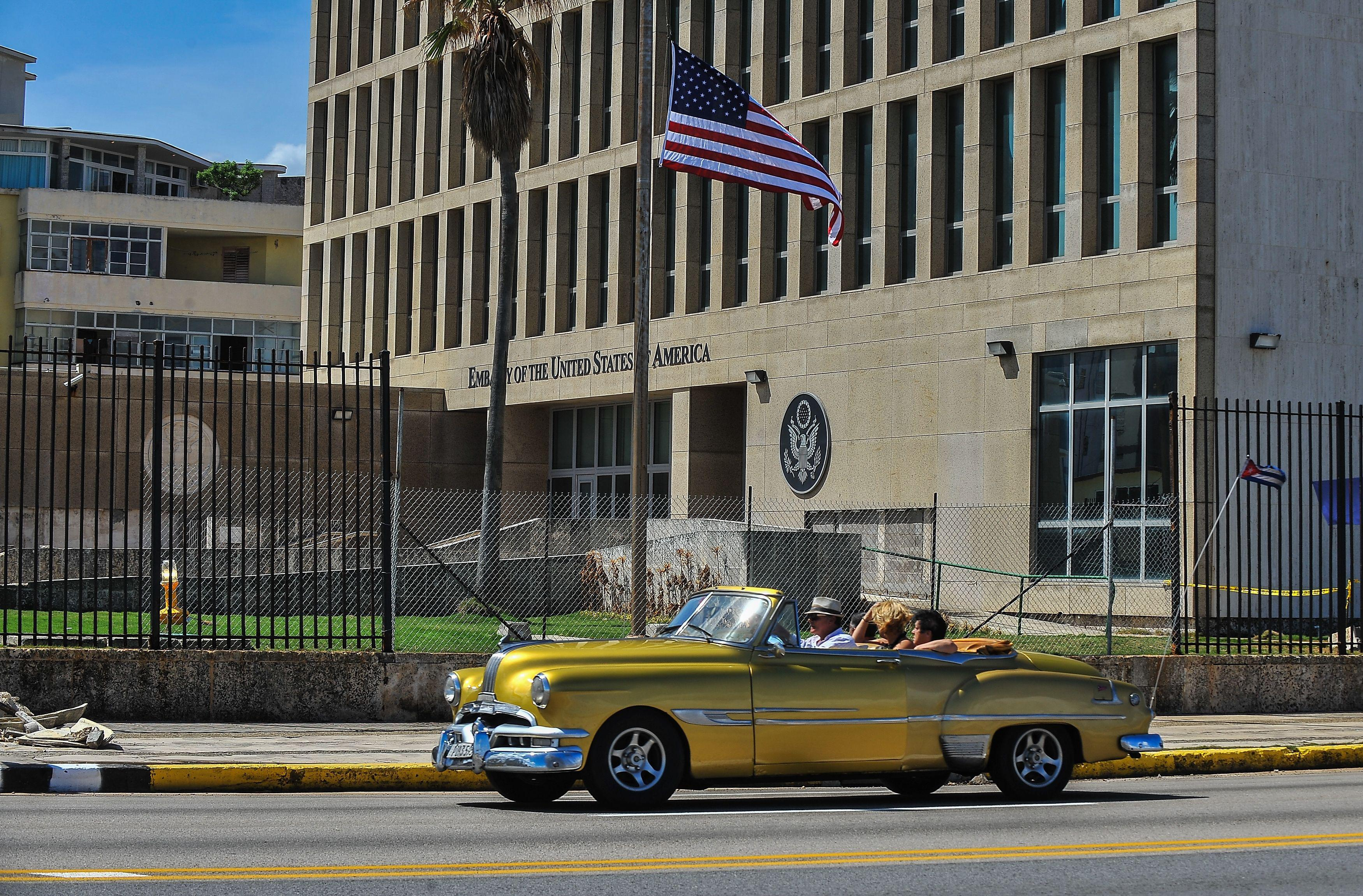 The U.S. Embassy in Havana, taken on Oct. 3.