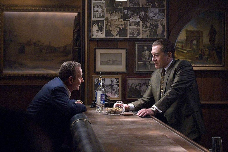 Joe Pesci and Robert DeNiro in The Irishman.