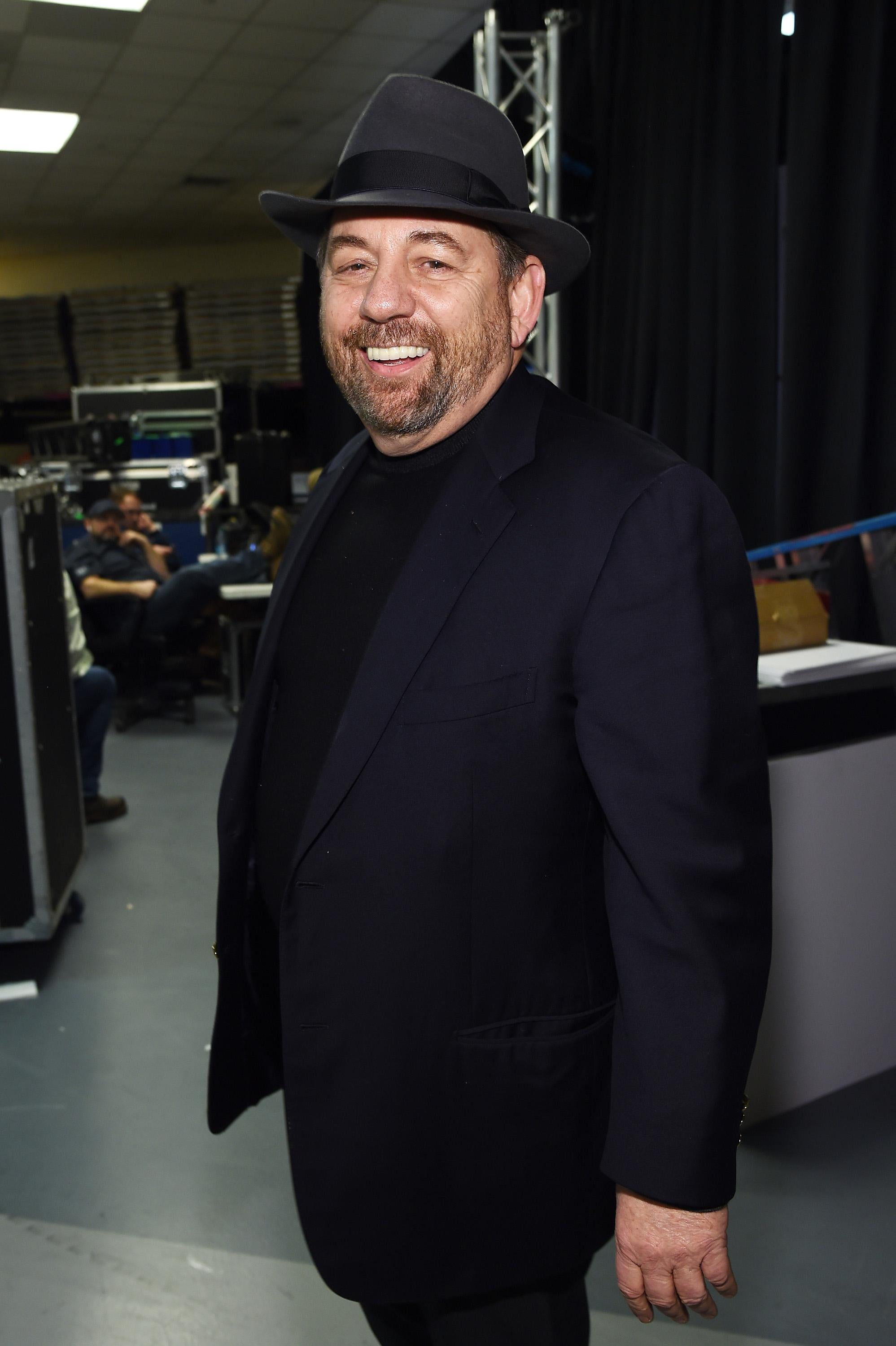 NEW YORK, NY - DECEMBER 12:  President and CEO of Cablevision Systems Corporation and Executive Chairman of The Madison Square Garden Company, James Dolan poses backstage at iHeartRadio Jingle Ball 2014, hosted by Z100 New York and presented by Goldfish Puffs at Madison Square Garden on December 12, 2014 in New York City.  (Photo by Jamie McCarthy/Getty Images for iHeartMedia)
