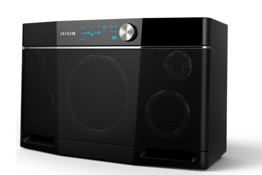 Aiwa Exos-9 Bluetooth speaker.