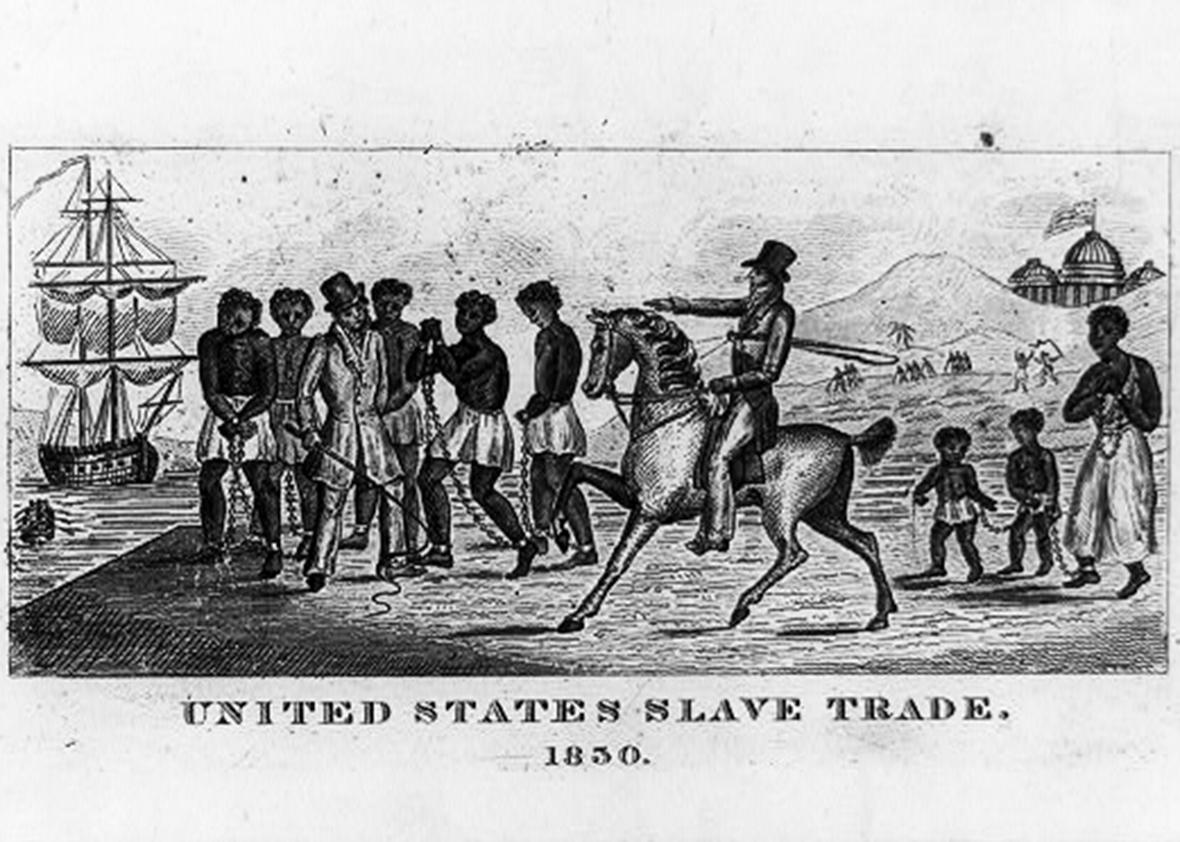United States slave trade, 1830.