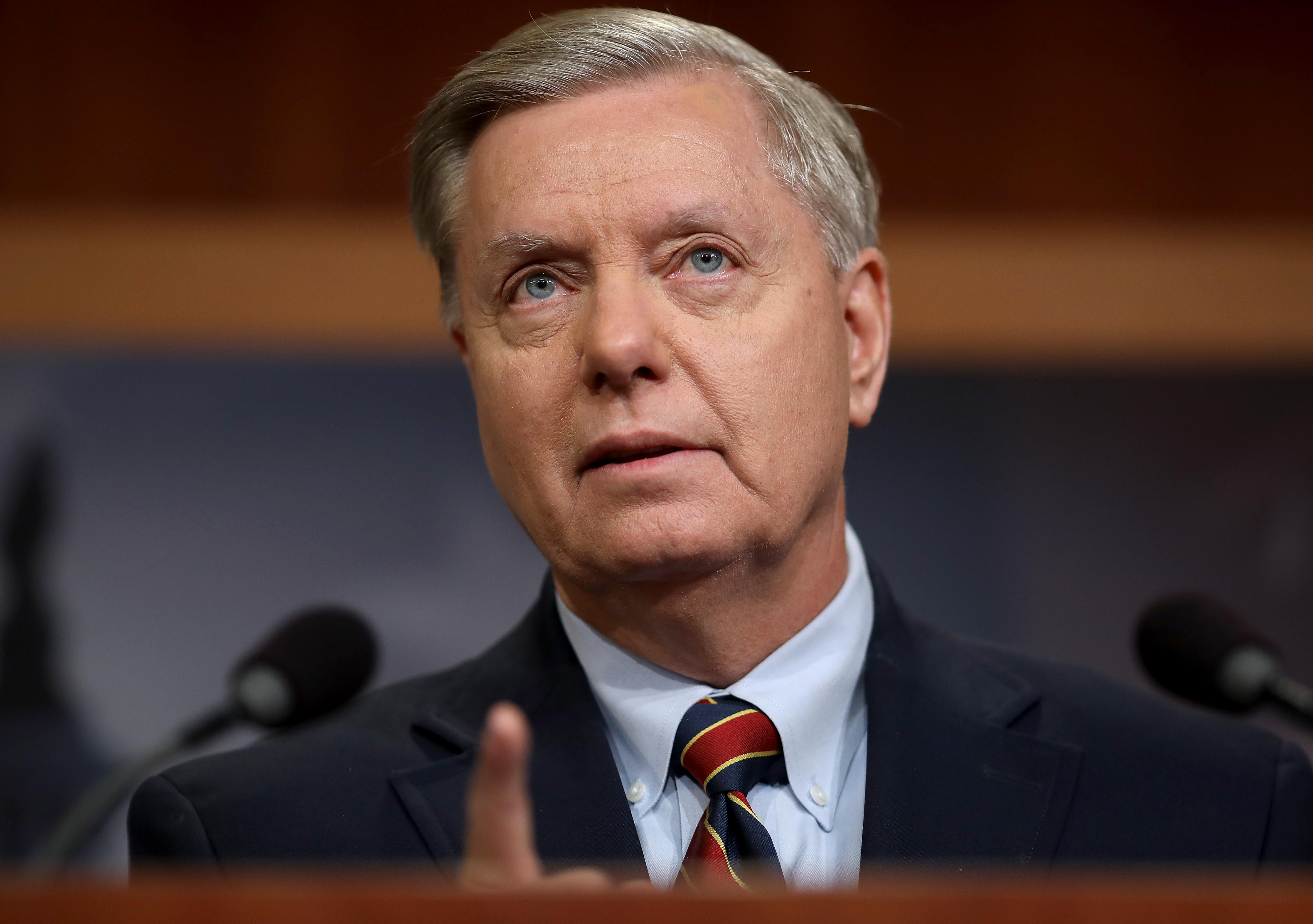 Sen. Lindsey Graham (R-SC) speaks during a press conference at the U.S. Capitol on December 20, 2018 in Washington, D.C.