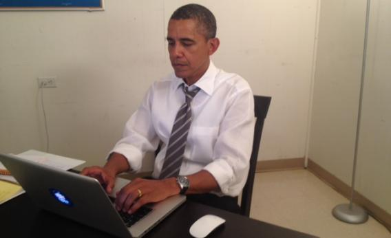 Obama doing his Reddit AMA in August.