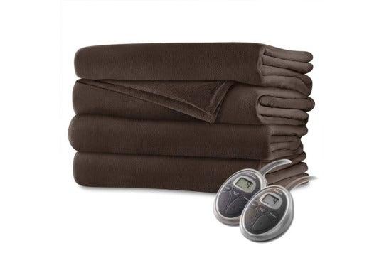 Sunbeam velvet plush heated blanket.