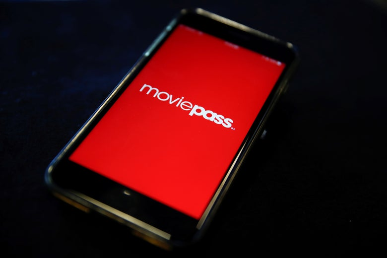 The MoviePass app.