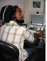 Production Assistant Christopher Johnson