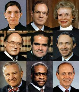 The 2004  Nine US Supreme Court Justices. Click image to expand.