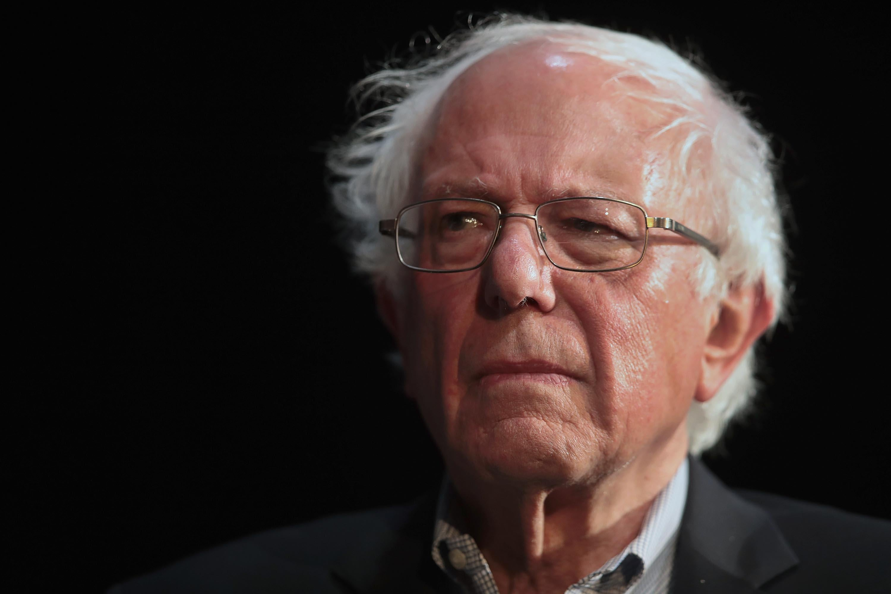 MUSCATINE, IOWA - APRIL 06: Democratic presidential candidate Senator Bernie Sanders (I-VT) host a campaign rally at the Fairfield Arts and Convention Center on April 06, 2019 in Fairfield, Iowa. The event is the final of three campaign events Sanders held in the state today.  (Photo by Scott Olson/Getty Images)