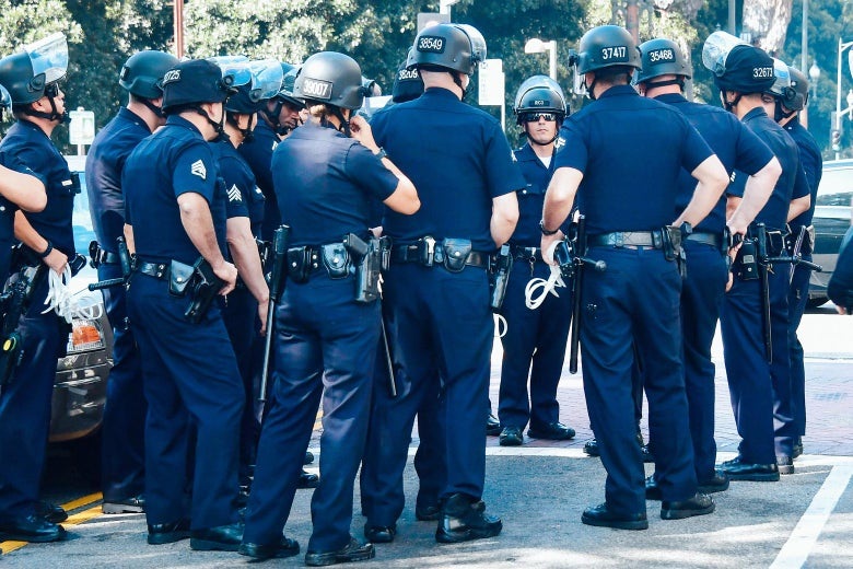 A group of Los Angeles Police Department officers.
