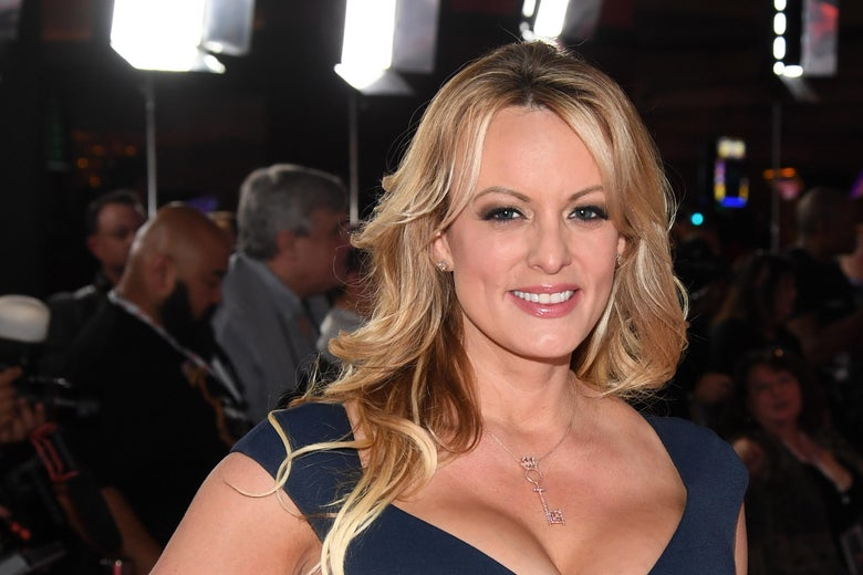 Stormy Daniels poses at an event.