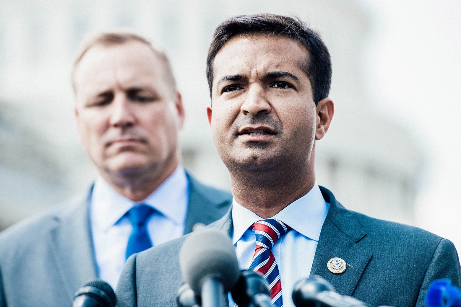 Florida Rep. Carlos Curbelo holds a news conference on immigration reform at the Capitol on Wednesday.