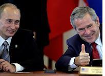 Vladimir Putin and George Bush. Click image to expand.