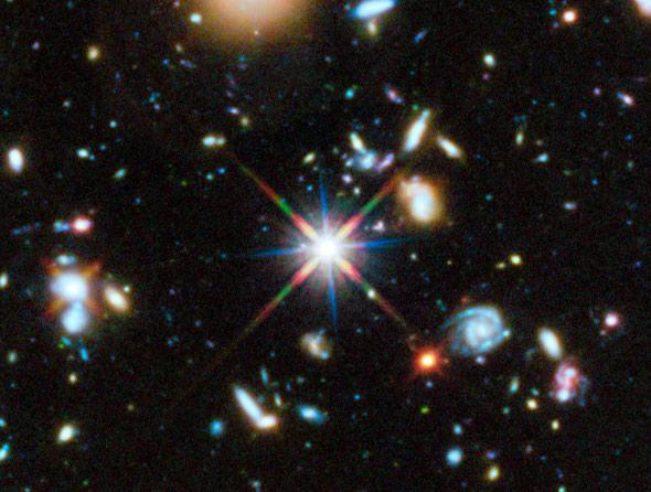 Hubble's colourful view of the Universe
