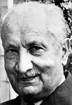 German philosopher Martin Heidegger