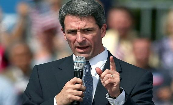 Virginia Attorney General Ken Cuccinelli speaks at a campaign rally.