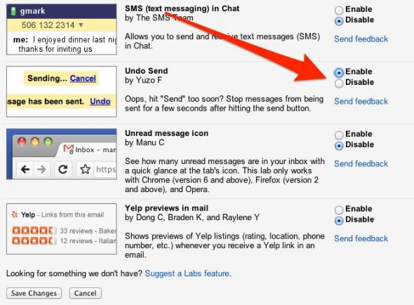 How to undo in Gmail