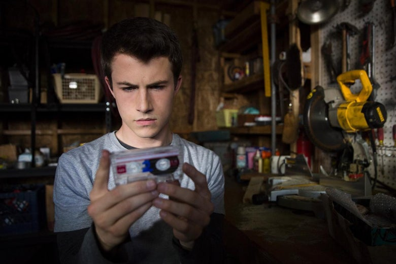 Dylan Minnette as Clay in 13 Reasons Why.