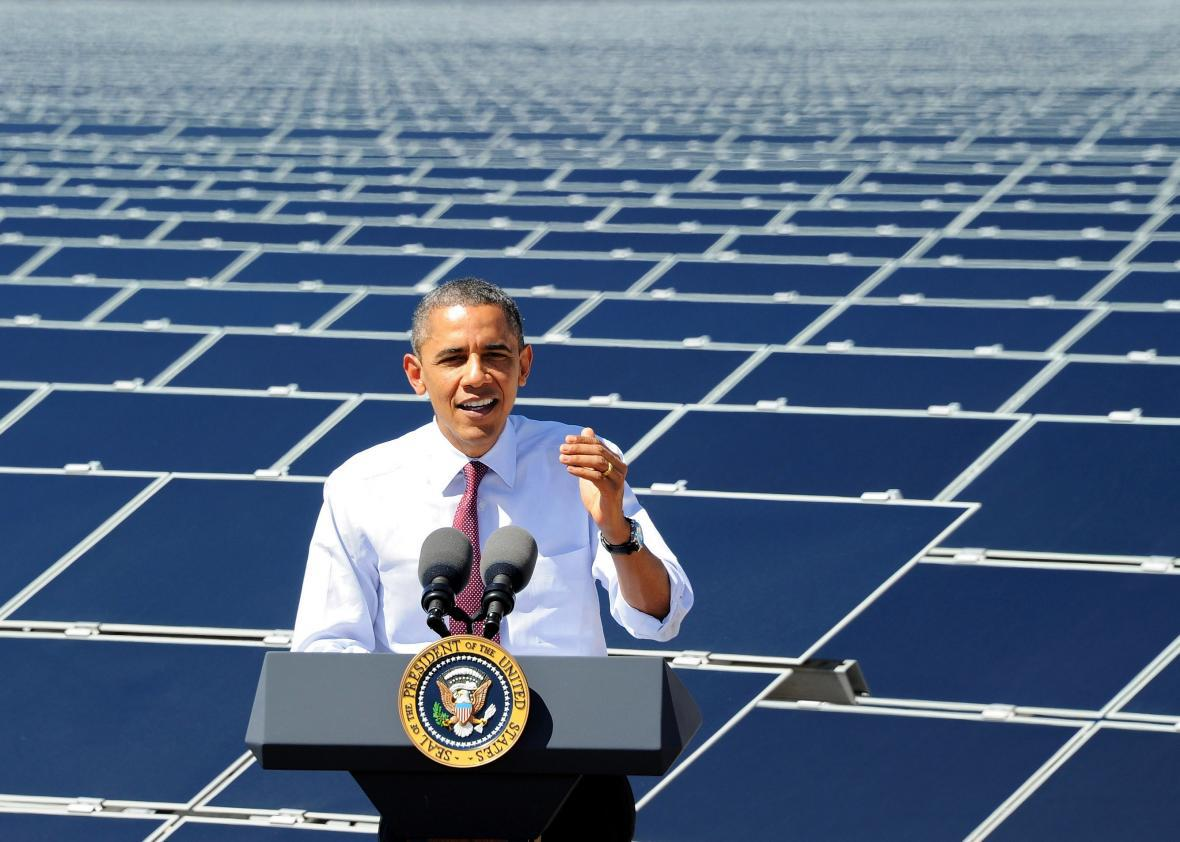 White House announces solar energy initiative in low income neighborhoods.
