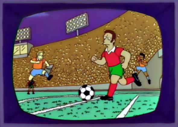 what simpsons episode does homer bet on football