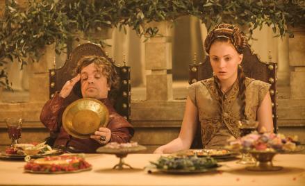 Tyrion and sansa's wedding.