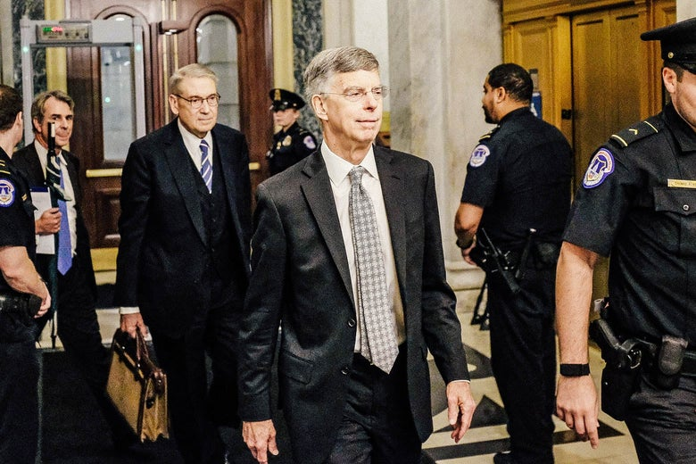 Bill Taylor leaves Capitol Hill.