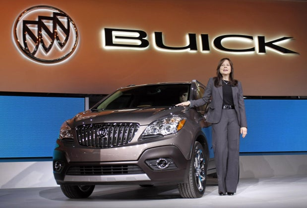 Mary Barra: GM's new CEO is a woman, and there are women on the board too.