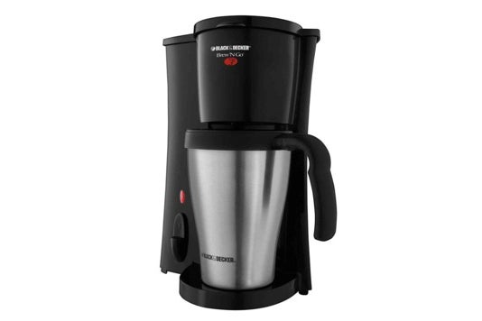 Black + Decker personal coffeemaker.