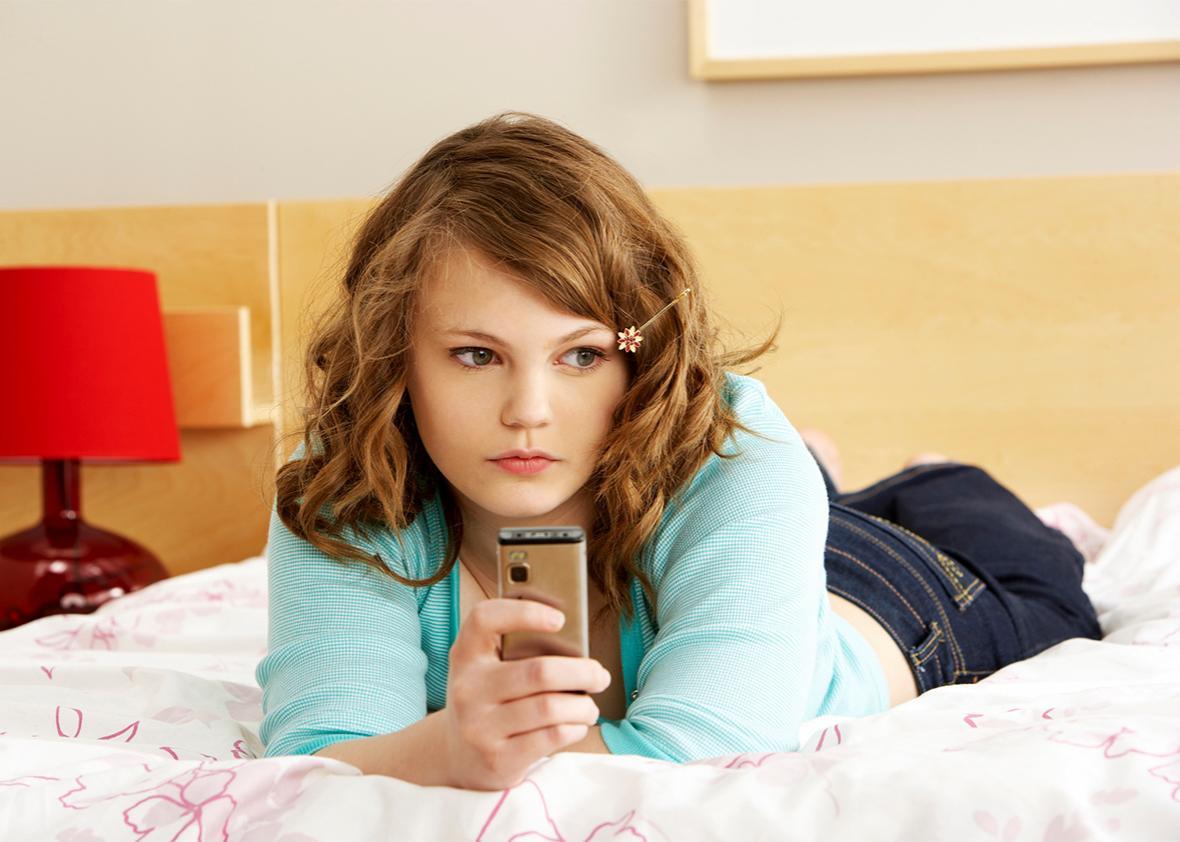 girl phone.
