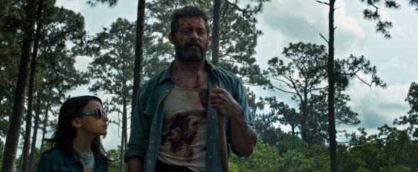 Hugh Jackman in Logan.