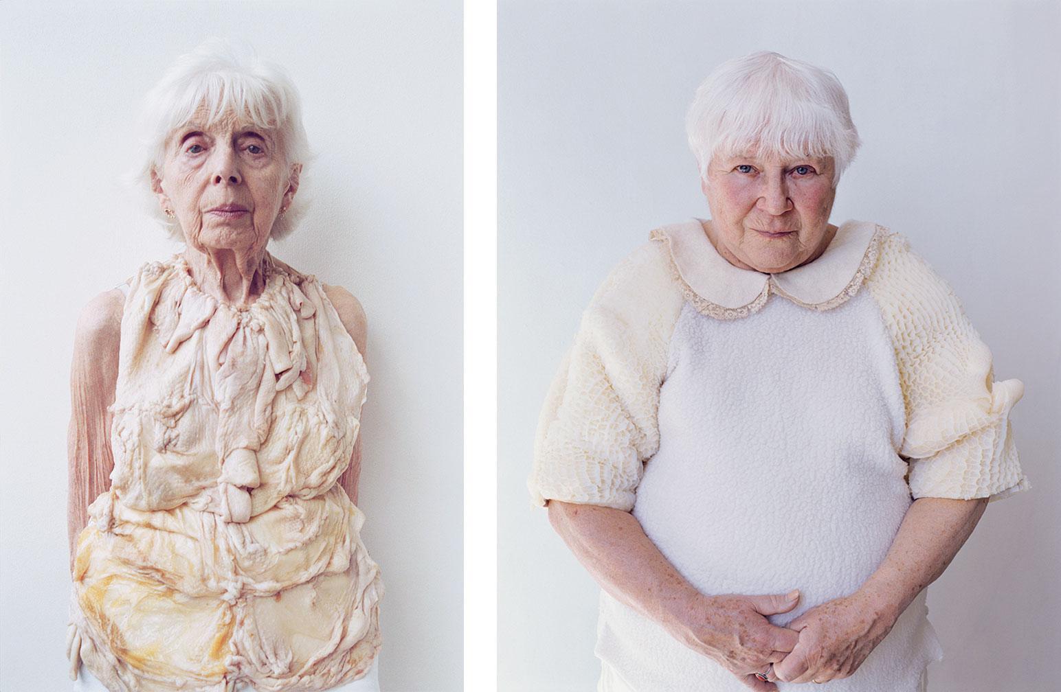 """Untitled from Perishables series 32x40"""" C-Print 2001 (l) Untitled from Perishables series 32x40"""" C-Print 2004"""