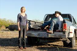 l-r) Adrianne Palicki as Tyra Collette, Zach Roerig as Cash