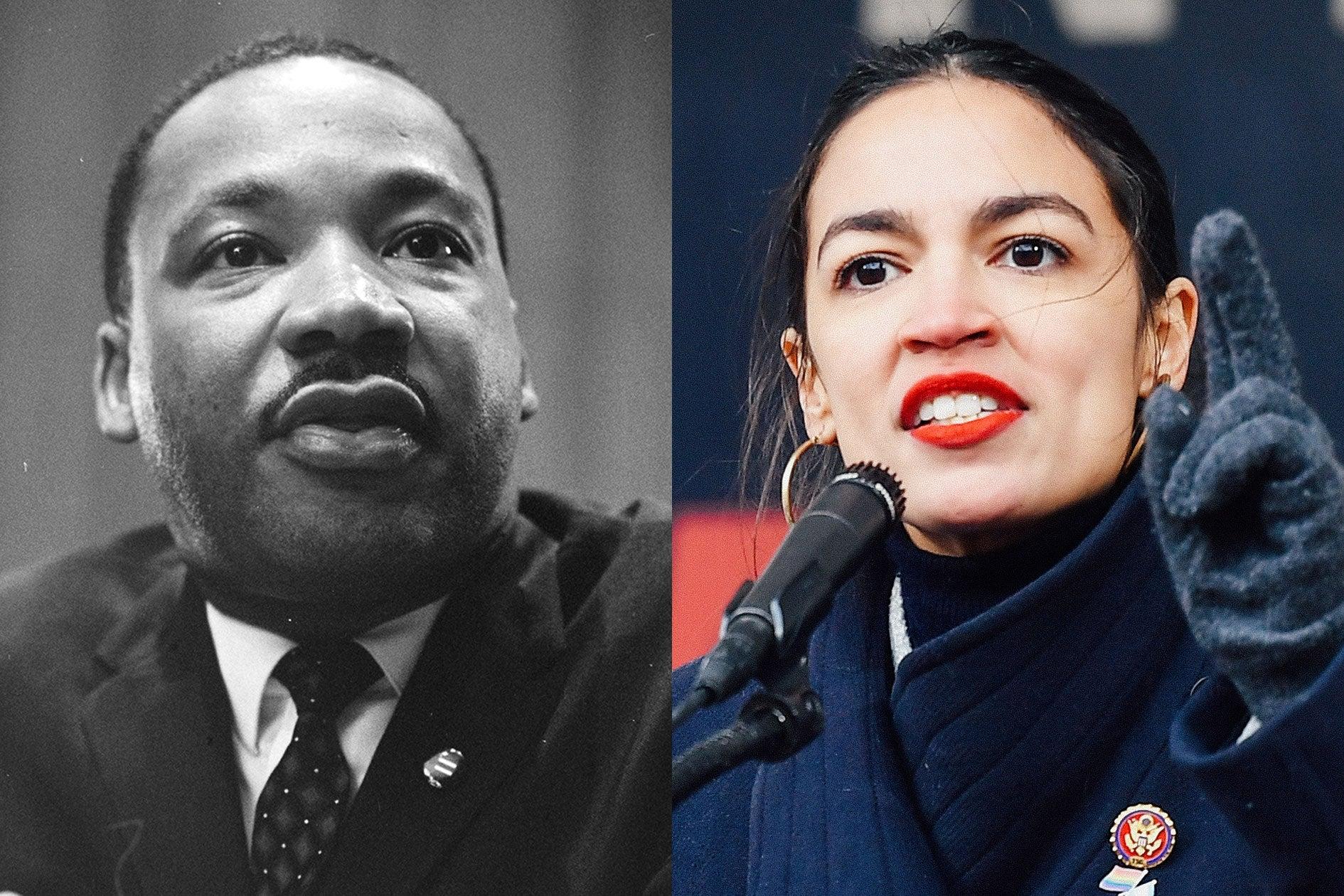 Martin Luther King Jr., Alexandria Ocasio-Cortez.