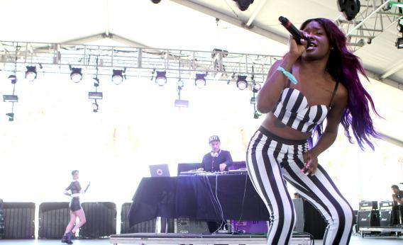 Azealia Banks performs at Coachella