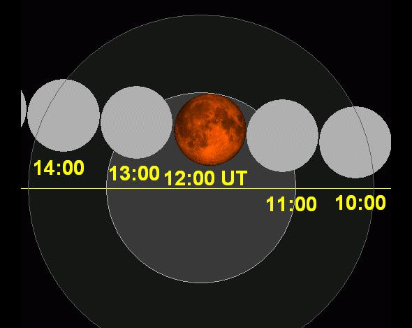 lunar eclipse map