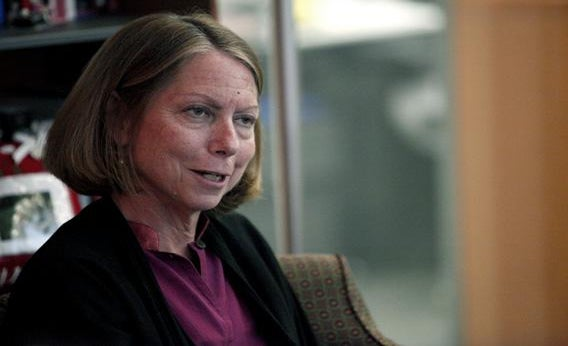 New York Times Executive Editor Jill Abramson speaks during an interview in New York September 21, 2011.