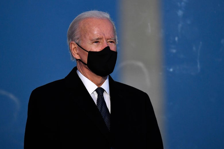 Biden in a mask