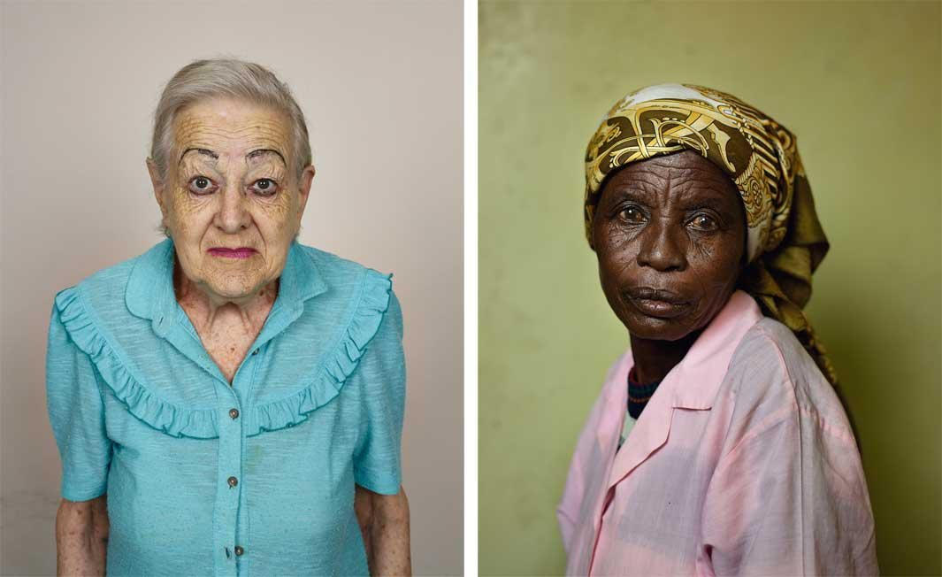 Left: Rina Veldsman, Monte Rosa Old Age Home, Cape Town, 2013 Right: Mimi Afrika, Wheatland Farm, Graaff-Reinet, 2013