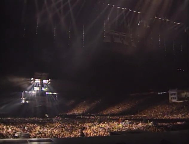 The crowd at a Michael Jackson concert in Bucharest.