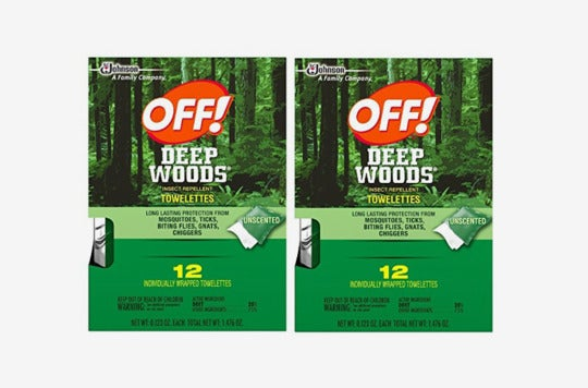 Off! Deep Woods Insect Repellent Wipes.