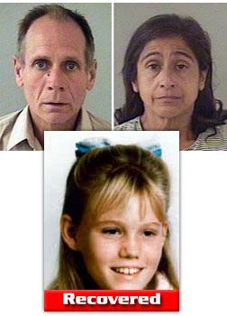Phillip Garrido (L), a convicted rapist, and his wife Nancy (R) reportedly admitted to kidnapping Jaycee Lee Dugard in 1991.