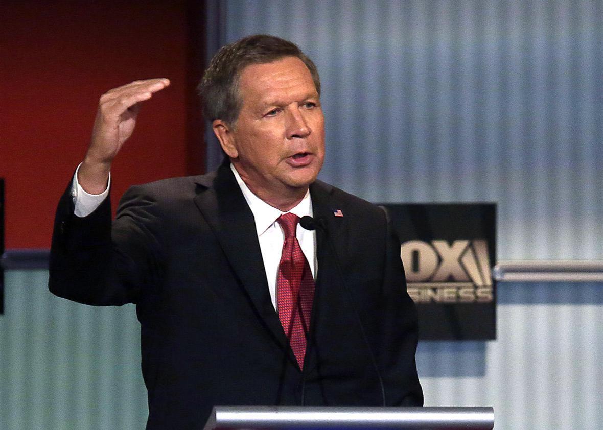 Republican presidential candidate John Kasich.
