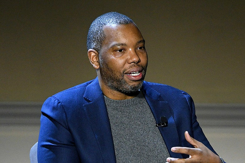 Ta-Nehisi Coates speaking at an event.