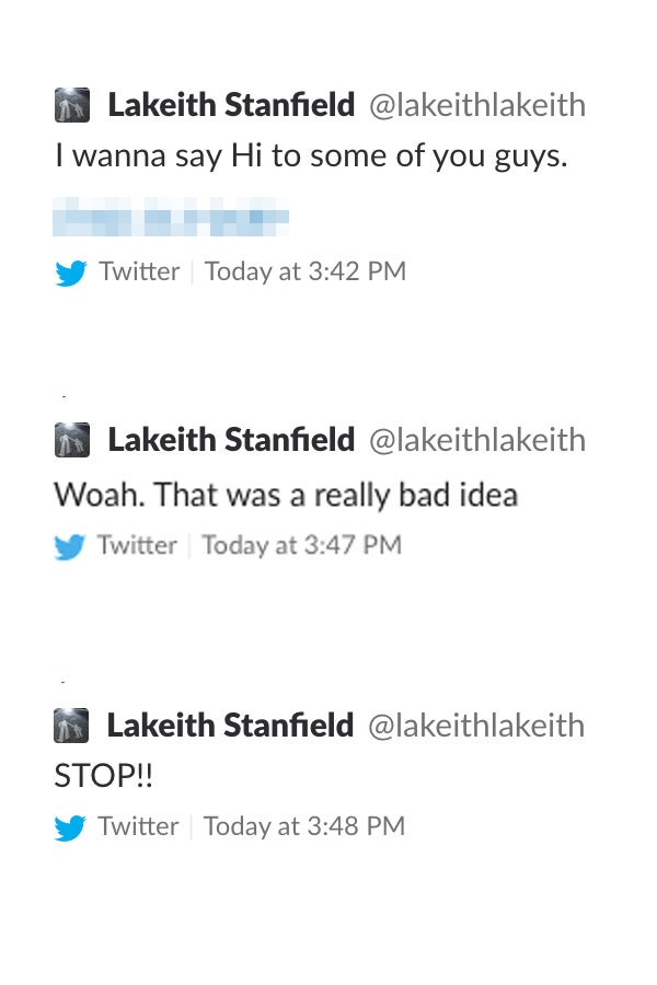 Lakeith Stanfield tweeted his phone number and that was a bad idea.