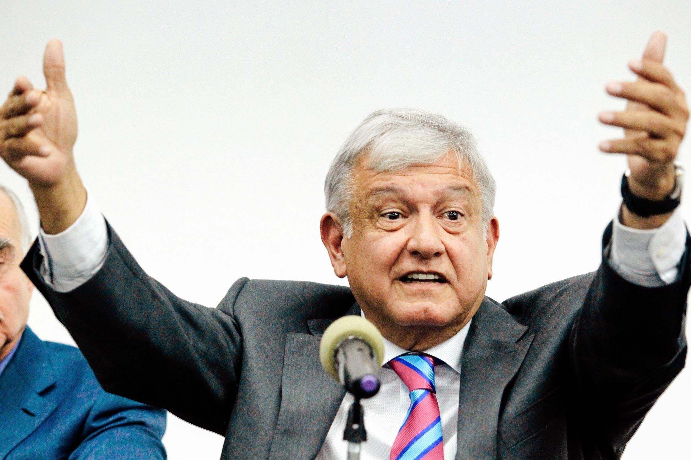 Mexican President-elect Andrés Manuel López Obrador
