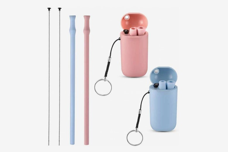 Vantic Collapsible and Reusable Silicone Straws