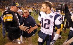 Ben Roethlisberger and Tom Brady.