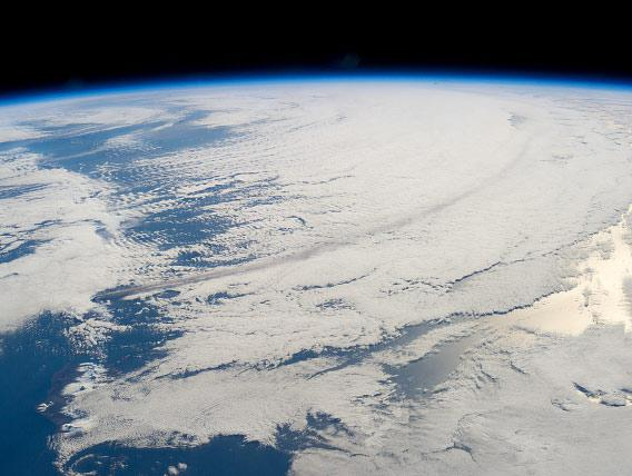 Pavlof volcano from space