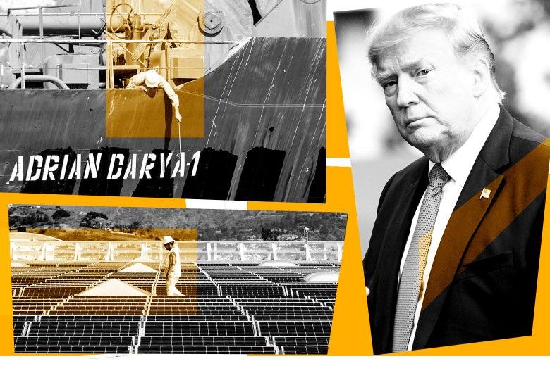 The Adrian Darya 1, solar panels, and Donald Trump.