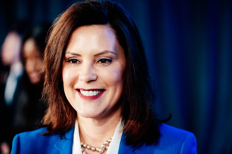 Gretchen Whitmer smiles