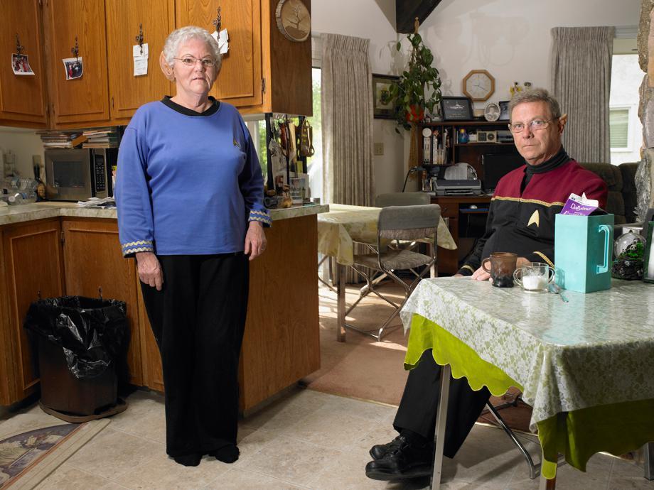 Roy & Marilynn Elmer, Members of the Board for Spock Days.Vulcan, Alberta June 2011